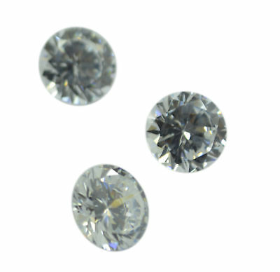 fine-looking White Cubic Zirconia Faceted Round 11x11 mm 1-PC Gemstones US