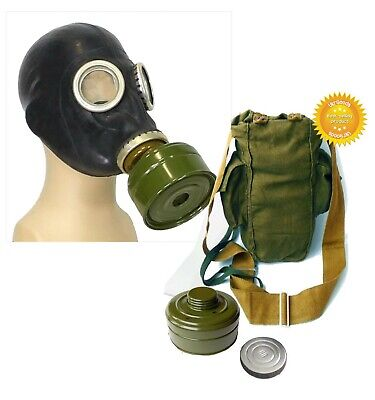 Black Size-3 Large Soviet Russian Military Gas mask GP-5 FULL SET