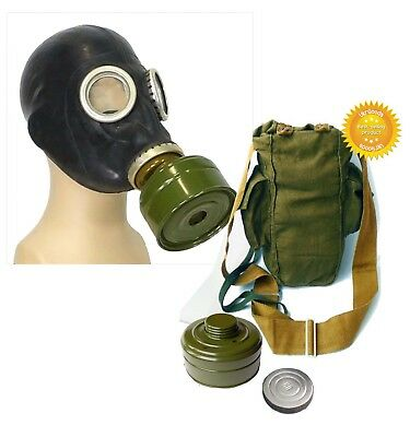 Black Size - 4. Extra Large Soviet Russian Military Gas mask GP-5 New FULL SET