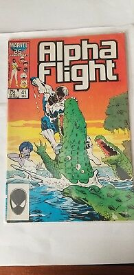 Alpha Flight Marvel # 41 December 1985