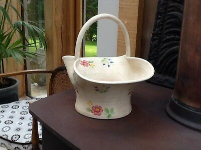 Radford Pottery Art Deco Hand Painted Pretty Vintage Basket Floral design 1930s