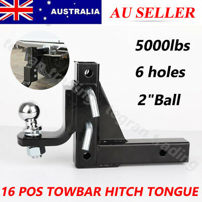 Adjustable Height Towbar Tow Bar Hitch 4WD Ball Mount Tongue Trailer 5000LBS