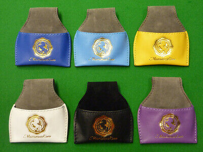 Maximus Cues Leather Chalk Pouch for snooker pool Cue Chalk Holder 19 Colours