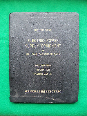 Pennsylvania RR PRR 1951 Passenger Car Electrical Manual From General Electric