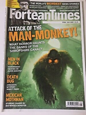 Fortean Times FT251 July 2009 Attack of Man- Monkey! William Burroughs,Death Bug