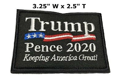 Donald Trump Make America Great Again MAGA Flag Embroidered Hook Loop Patch