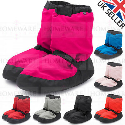 Bloch Warm Up Dance Boots Ladies Men Pink Blue Black Ballet Booties Uk2 - Uk9