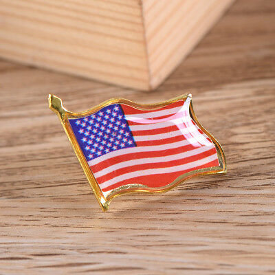 1pc American Country Badge Brooch Metal  United States USA Flag Lapel Pin