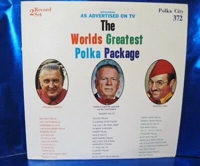 THE WORLD'S GREATEST POLKA PACKAGE 2 LP 33RPM Compatible Stereo Record Set #372