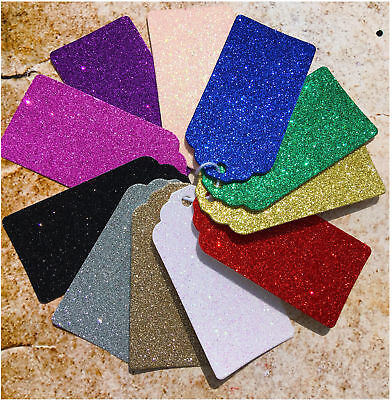 Beautiful Extra Large Gift Tags ~ Size 77mm X 136mm. Luxury Quality Glitter.