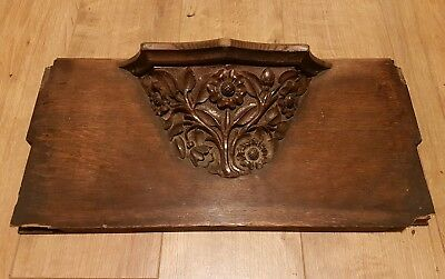 Antique Carved Oak Misericorde 16th? 17th? 18th? 19th Century?
