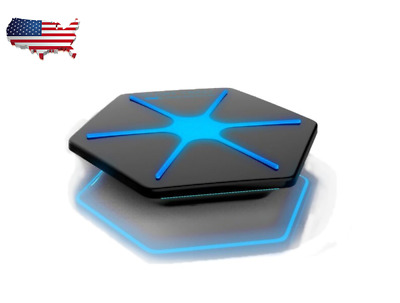 7.5W Qi Wireless Charger Pad Station Mat Hexagon Base 5V 1.5A charging output US