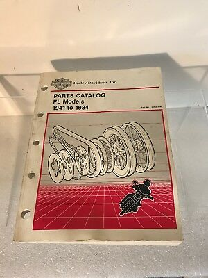 Harley Davidson Parts Catalog 1941-1984 Touring FL Manual Book 99456-84B