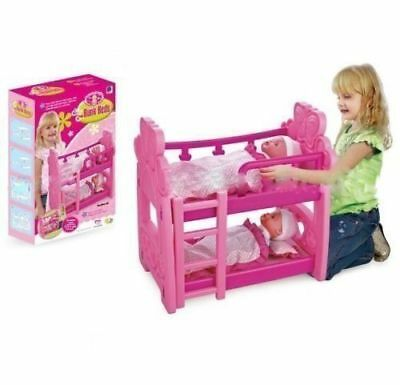 Kids Girls Pink Bunk Bed Baby Doll Children Xmas Gift Toy Pillow Birthday New