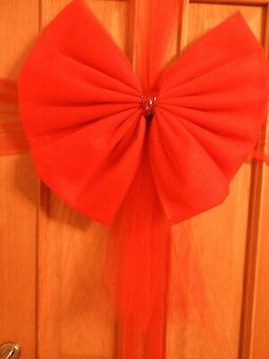 Gorgeous LARGE RED Christmas door bow and wrap kit with instructions