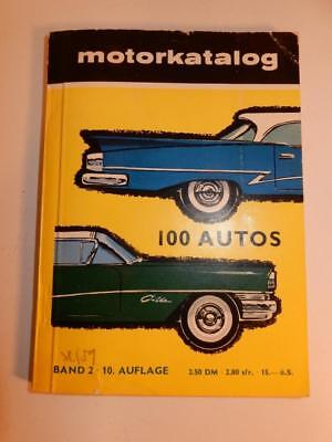 VINTAGE GERMAN MOTORKATALOG MOTOR CATALOG 100 AUTOS BENTLEY FORD MERCEDES 1950s