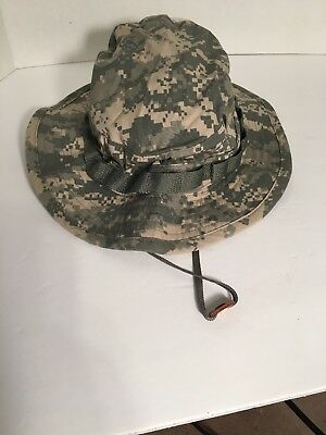 Us Army GI Multicam ACU Ripstop Camoflage Combat Floppy Hat Boonie 7 1/2 NWT