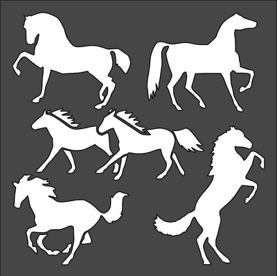 1- 5.5x5.5 inch Stencil, Horse Wildlife Animal, Free Shipping (rs#4)