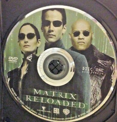 The Matrix Reloaded (DVD, 2003) Disc 1 Only!