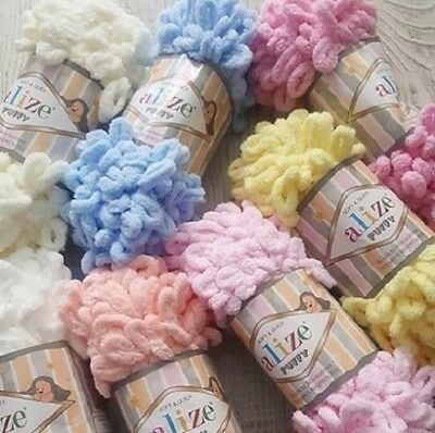 Yarn Alize Puffy plush yarn children's yarn baby yarn blanket yarn plaid yarn