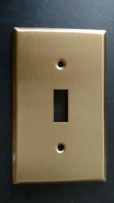 Brass Single Light Switch Wall Toggle Wallplate Cover plate; by THE CAPE CRAFT