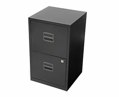 Bisley Metal Filing Cabinet 2 Drawer A4 H670xW410xD400mm - Black