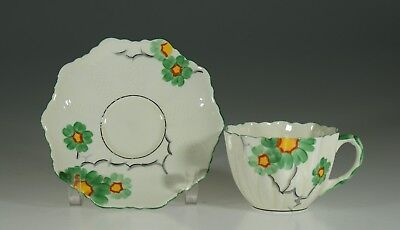 Paragon Rare Floral Early Queen Anne Style Tea Cup and Saucer England c. 1930