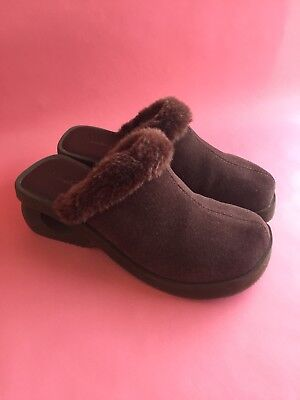 shop uk cheap sale top-rated newest SKECHERS BROWN SUEDE Something Else Fur Clogs Size 7 ...