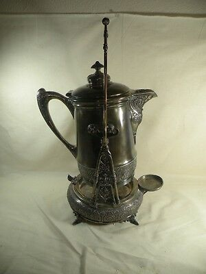 Antique Silver Plate Tilting Pitcher Large Middletown Silver Co 1800's Aesthetic