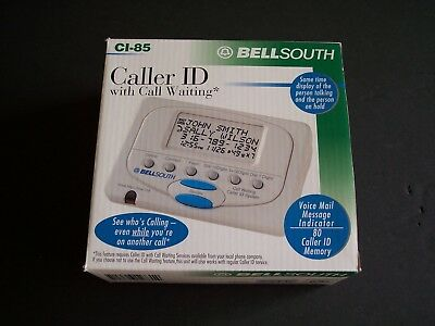 BELLSOUTH CI-85 CALLER ID With Call Waiting 80 MEMORY English or Spanish Display