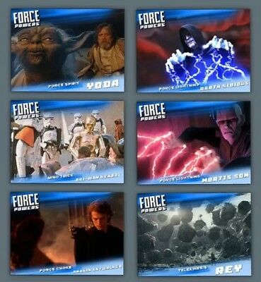 Force Powers-Wave 2-Blue-6 Card Set-Topps Star Wars Card Trader