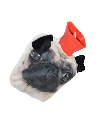 2 LITRE HOT WATER BOTTLE WITH PUG COVER RUBBER BOTTLE WINTER WARMER 21103c