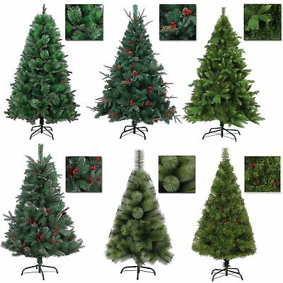 Deluxe Bushy Classic Christmas Tree Xmas Home Decorations  4ft 5ft 6ft 7ft 8ft