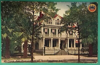 New Orleans, Louisiana, St. Charles Avenue, Corner 3rd Street 1911 Post Card