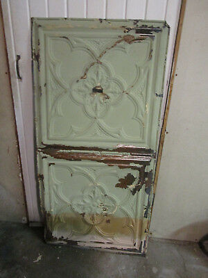 Antique Decorative Tin Ceiling Double Tile Panel (4'x2'), #109