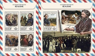 Z08 IMPERF TG17512ab Togo 2017 Great painters of Realism MNH ** Postfrisch Set