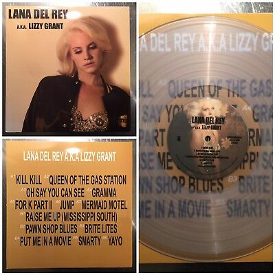 Rare Clear Blue Color Vinyl Lana Del Rey Aka Lizzy Grant Lp Import Limited New