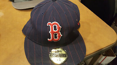 2c3f0df27ad New Era 59FIFTY BOSTON RED SOX Game GM MLB Baseball Cap fitted Hat Navy 7 1