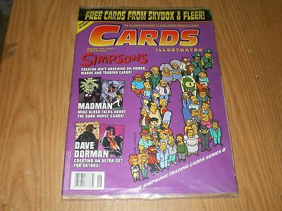 MIP Sealed Cards Illustrated Simpsons + Promo Cards Marvel Universe Sept 1994