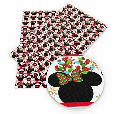 Christmas Minnie Mouse Faux Leather Sheet