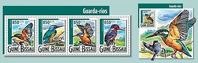 Z08 IMPERFORATED GB15411ab GUINEA-BISSAU 2015 Kingfishers MNH ** Postfrisch Set