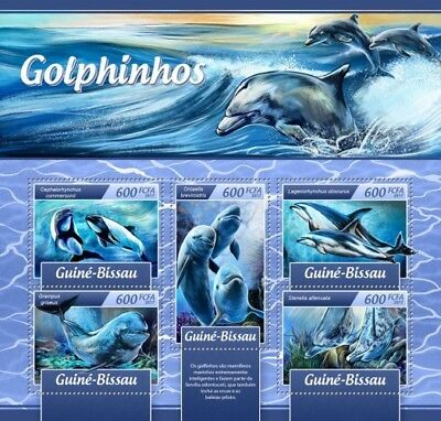 Z08 IMPERFORATED GB17108a GUINEA BISSAU 2017 Dolphins MNH ** Postfrisch