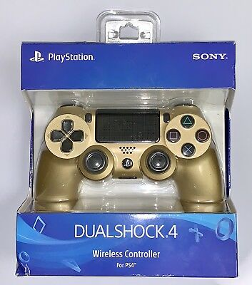 Sony Dualshock 4 Controller for PS4 - Gold In Package Works Great!