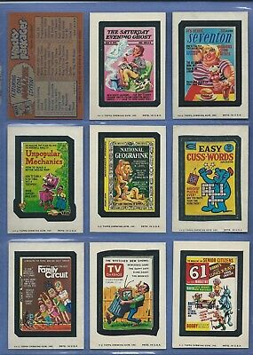 Wacky Packages Series 11Complete Set Nm 30 Of 30