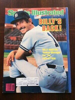 Vintage Sports Illustrated May 6, 1985 Billy's Back Billy Martin nice