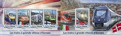 Z08 IMPERFORATED TG17112ab TOGO 2017 European speed trains MNH ** Postfrisch