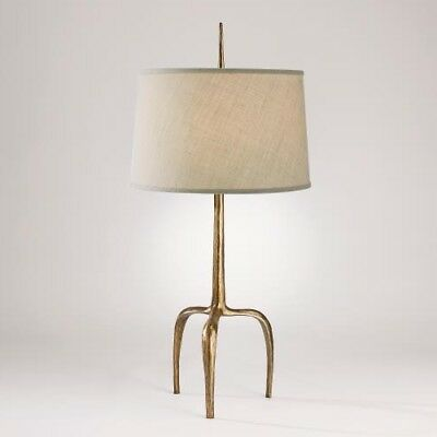 """41"""" T Table Lamp Gently Curved Tripod Base Elegant Finial Solid Cast Iron"""