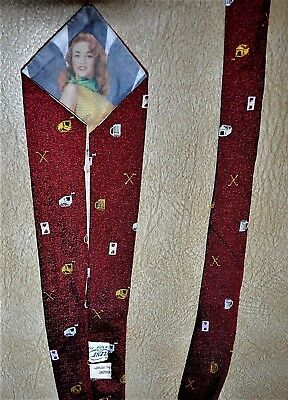 Men's Tie    - VINTAGE 60's DOGHOUSE, PEEK-A-BOO, PIN UP GIRL -