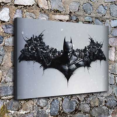 "16""x24""Batman Arkham HD Canvas prints Painting Home decor Picture Room Wall art"