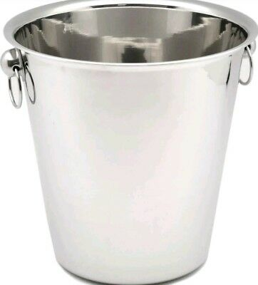 Champagne Wine Ice Chiller Cooler Bucket - Stainless Steel - 4 Litre